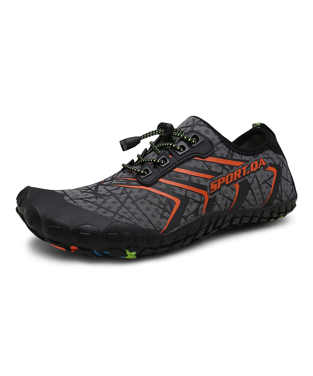 CZ Men's Water shoes gray - Gray & Orange Lace-Up Wading Shoe - Men