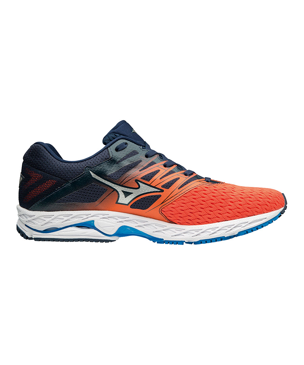 62ee4941a133 Mizuno Flame & Dress Blue Wave Shadow 2 Running Shoe - Men | Zulily