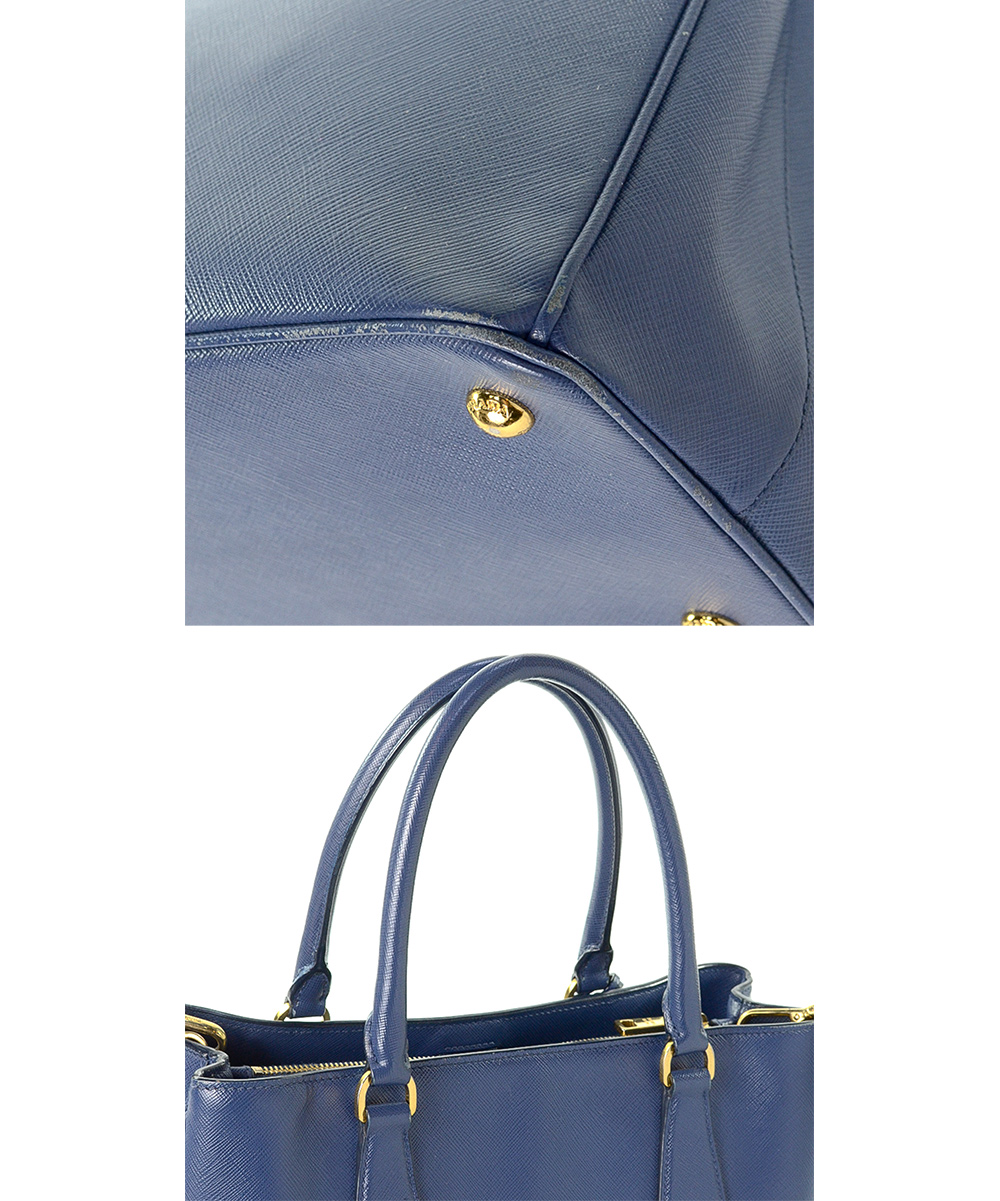 d5a88af21e ... Womens Blue Pre-Owned Blue Saffiano Lux Two Way Leather Tote -  Alternate Image 5