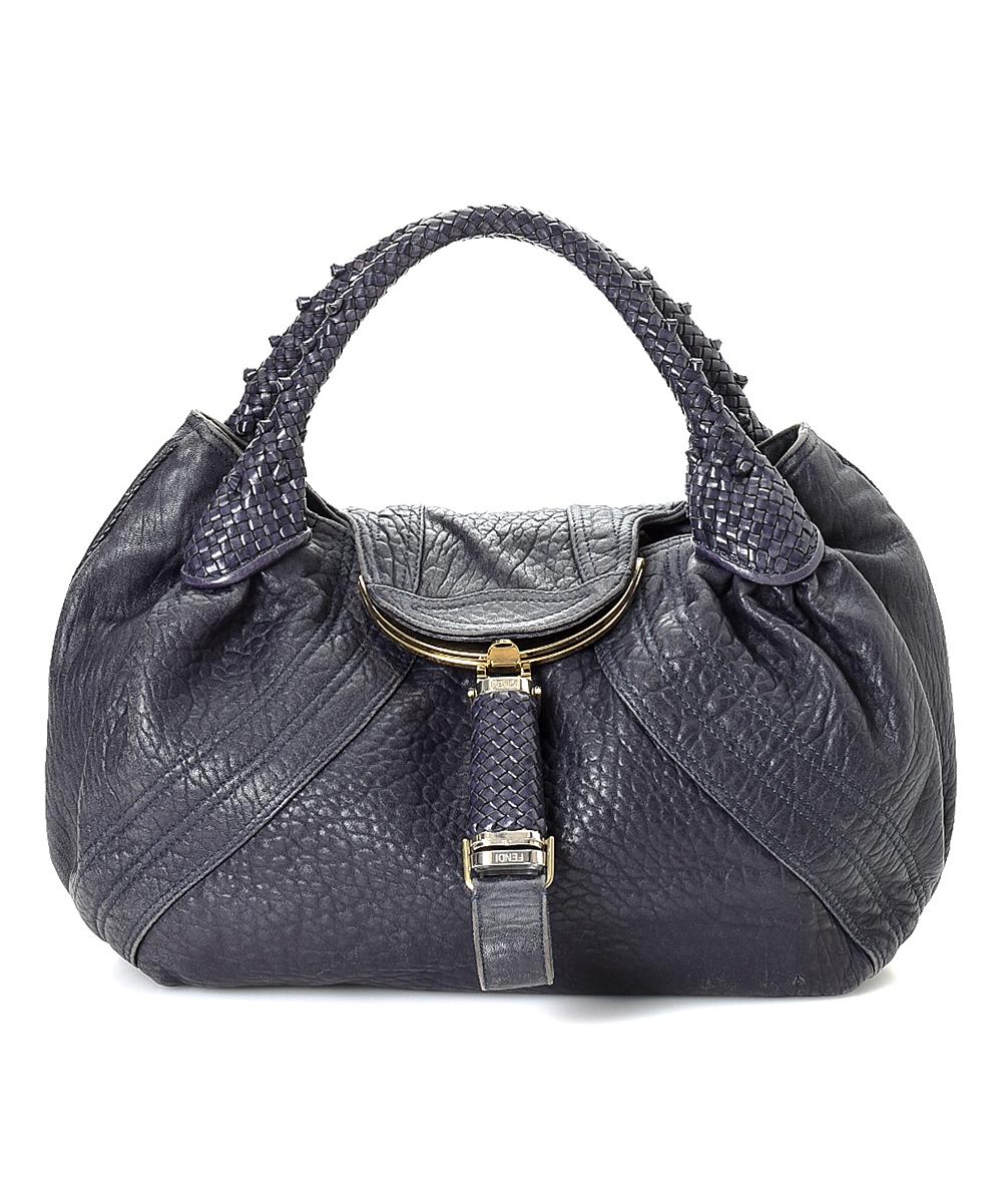 fb47e7e9d1 Fendi Pre-Owned Navy Spy NS Leather Shoulder Bag | Zulily