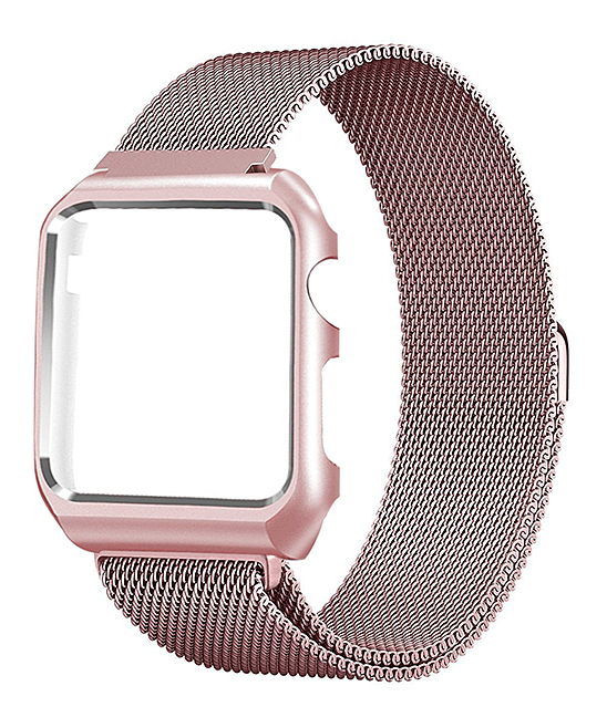 01a961919bd Prime Bands Rosegold Milanese Loop Mesh Band with Matching Frame for ...