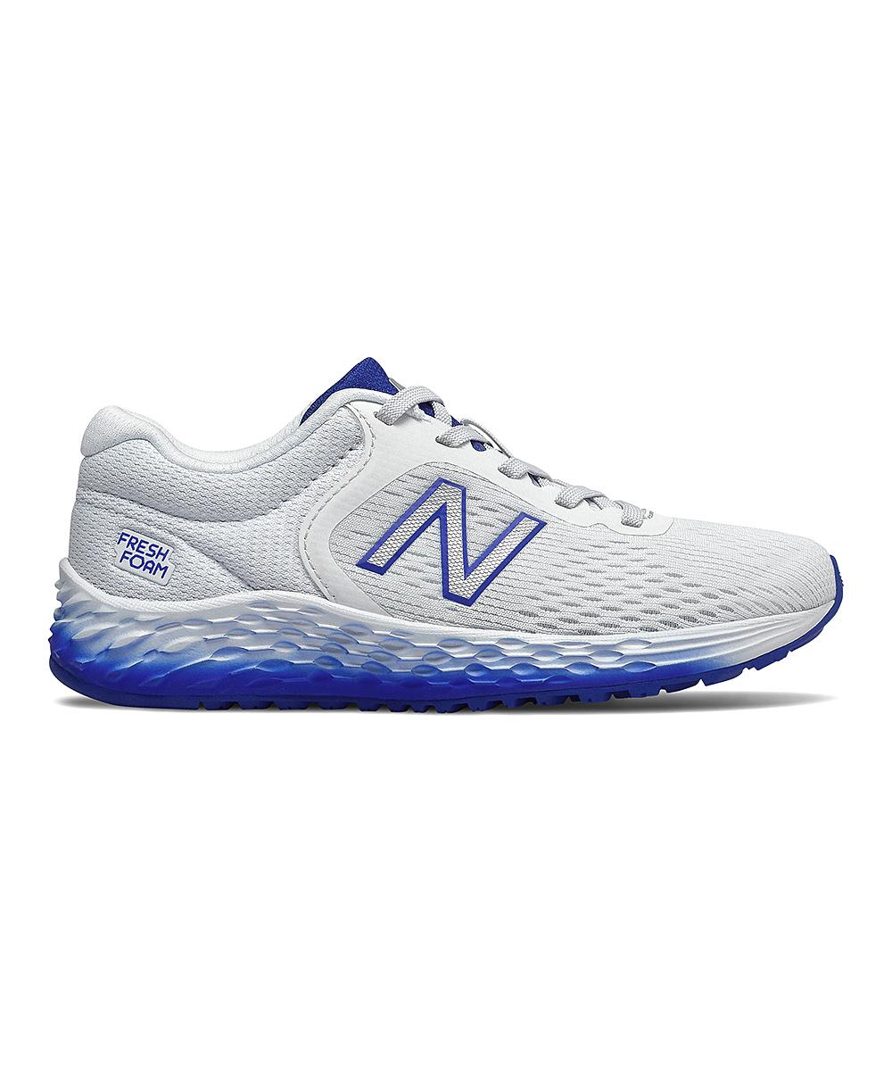 New Balance  Running Shoes WHITE - White & Royal Blue Arishi Sneaker - Kids