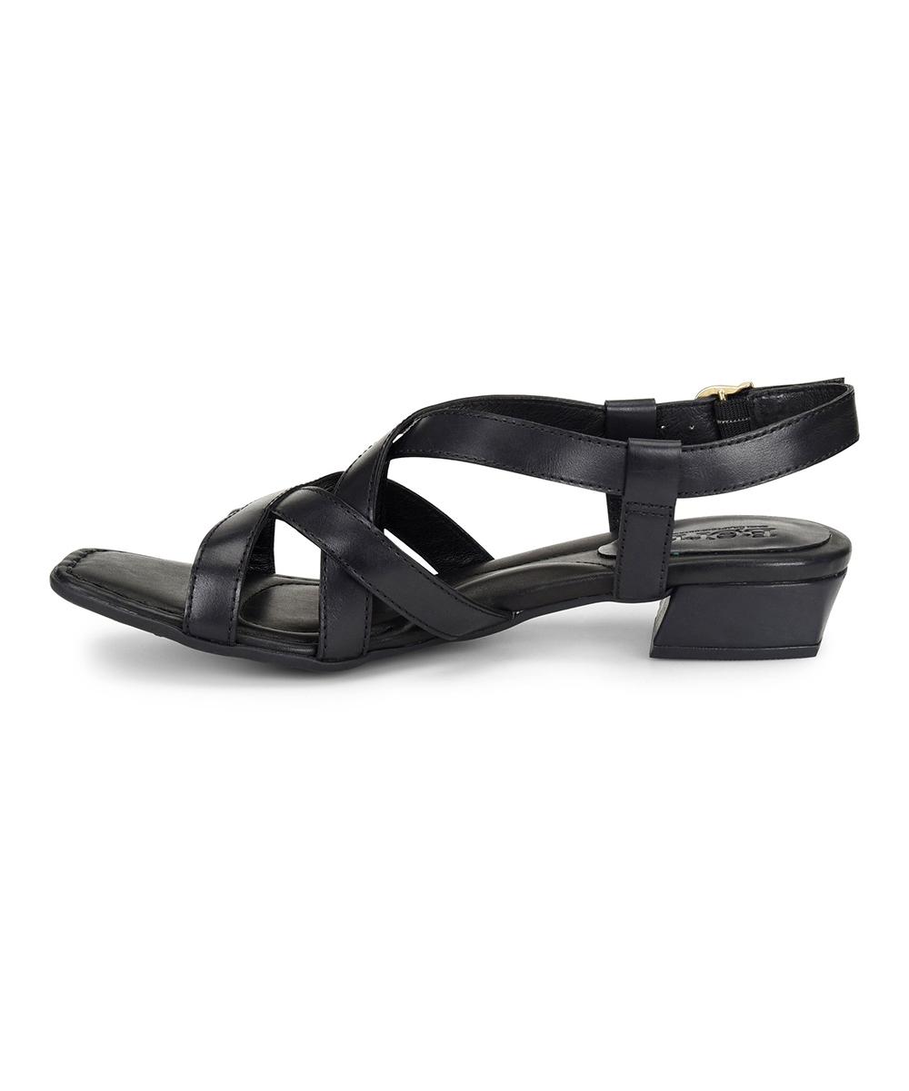082e50fca8e3 ... Womens EASY BLACK F Easy Black Bouvet Leather Sandal - Alternate Image  3 ...