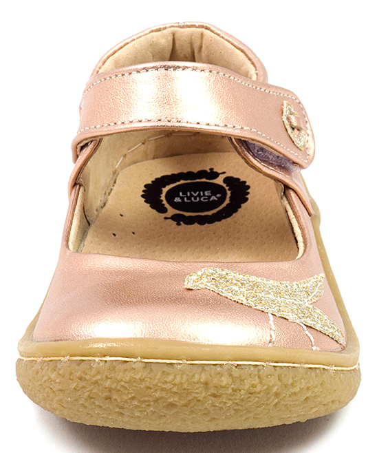 83ee528a4d04 ... Girls ROSEGOLD METALLIC Metallic Rose Gold Pio Pio Glitter Bird Leather  Mary Jane - Alternate Image ...
