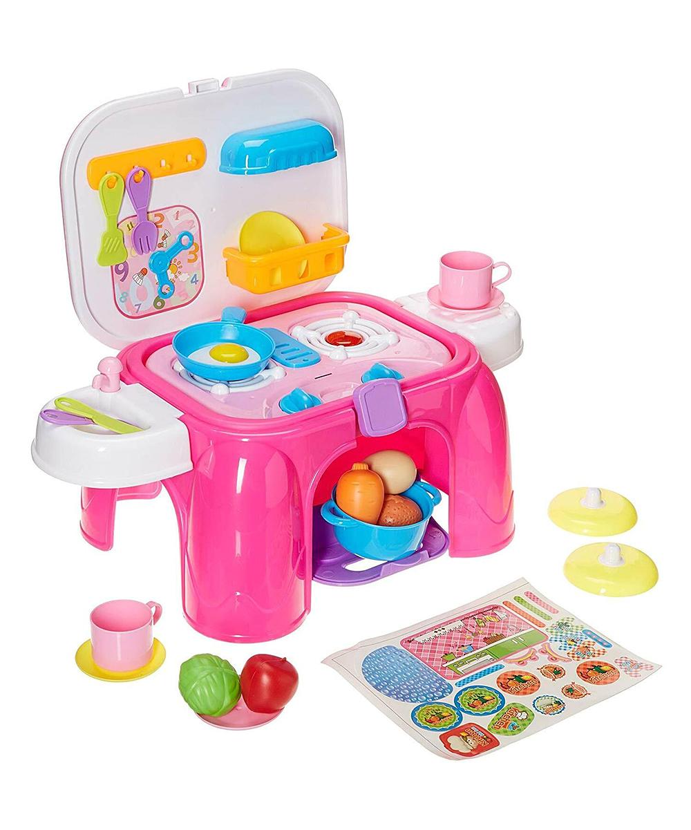Toy Chef Pink Kitchen Set Zulily