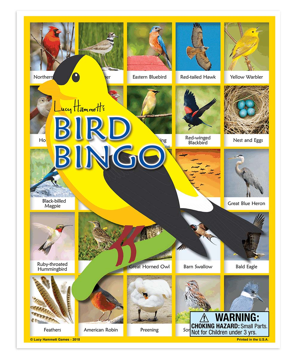 Lucy Hammett Games  Board Games  - Bird Bingo Game