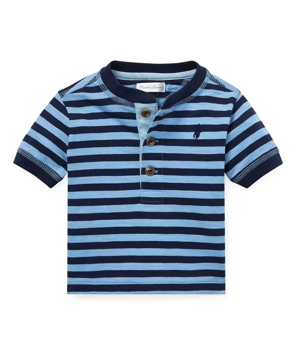 Henley Lauren Navy Ralph Infant Blueamp; Polo Stripe Collin nN80vOwm