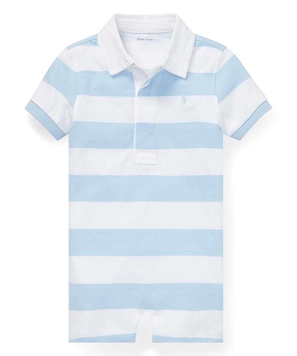 Blueamp; White Polo Beryl Infant Romper Ralph Lauren Stripe 8PO0wkXn