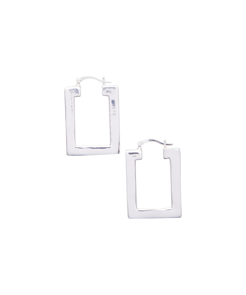 Best Silver Women's Earrings  - Sterling Silver Square Hoop Earrings