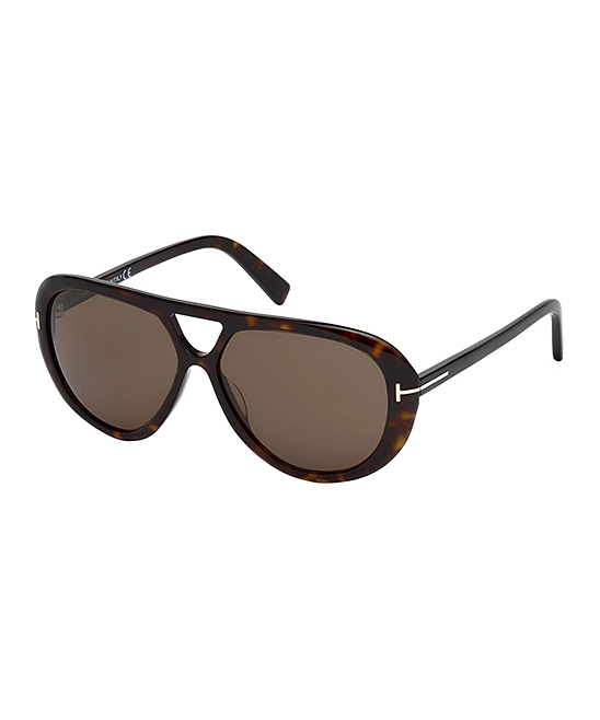 Dark Havana Marly Modified Aviator Sunglasses - Men Dark Havana Marly Modified Aviator Sunglasses - Men. Polish off his look with these designer shades to protect his eyes while he's on the road or hanging out with friends outdoors. Includes sunglasses, cleaning cloth and caseLens width: 59 mmBridge distance: 13 mmArm length: 145 mmAcetate100% UV protectionImported