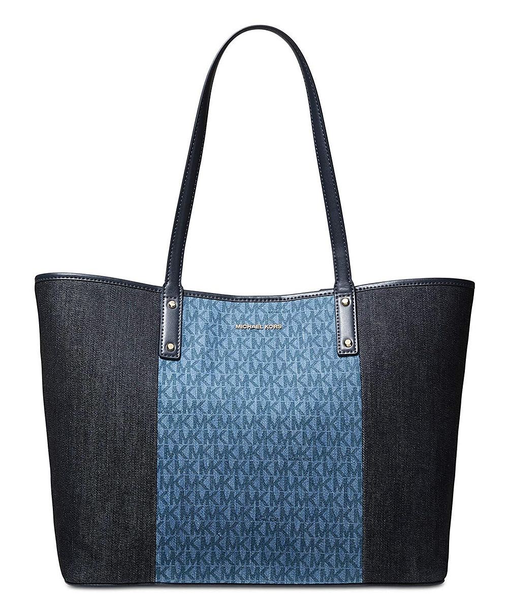 Two-Tone Denim Signature Carter Tote