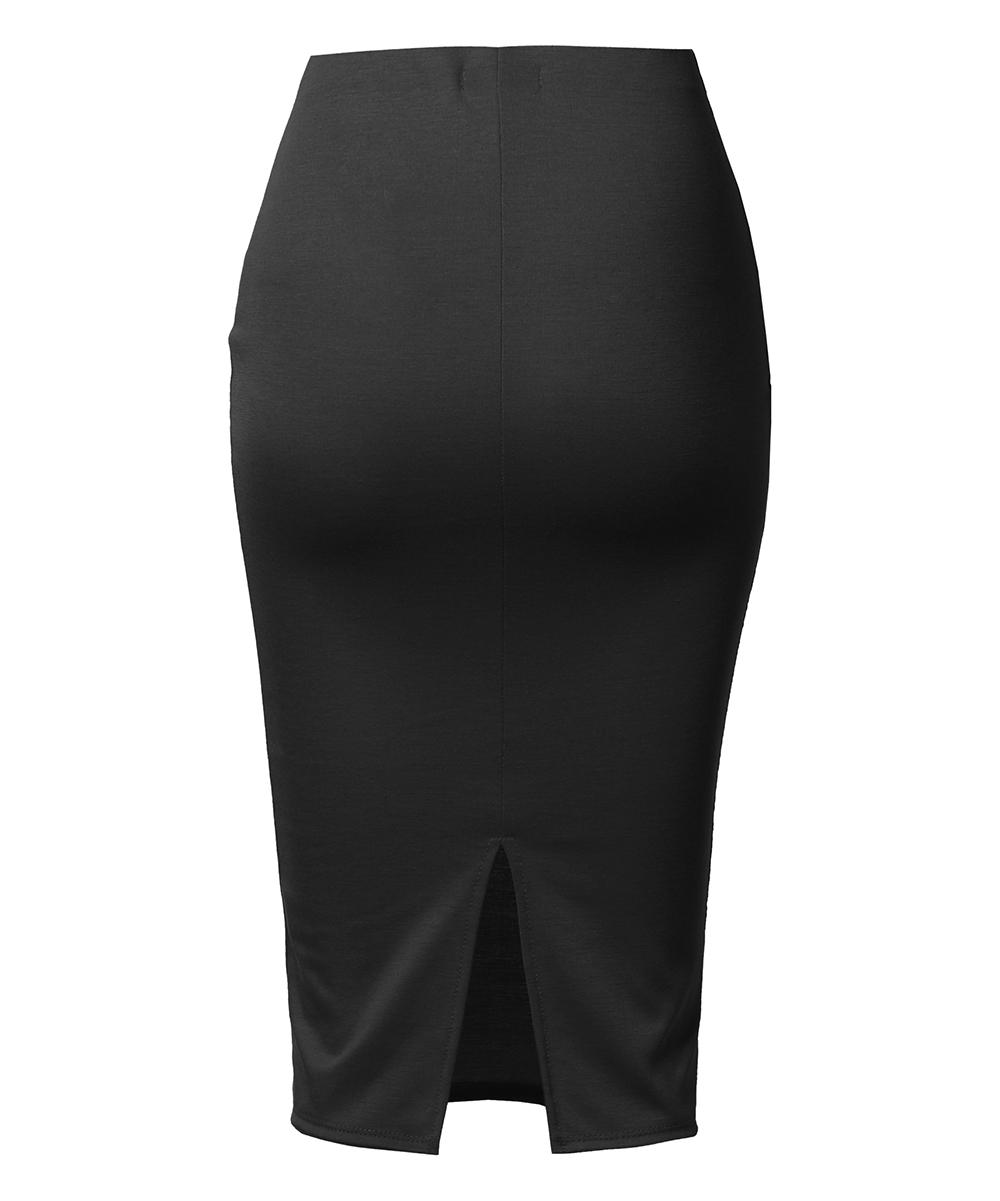 41aba186c1 love this product Black Back-Slit Midi Pencil Skirt - Women & Plus