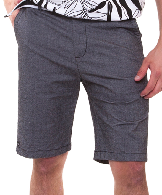 Black Lyn Woven Walk Shorts - Men Black Lyn Woven Walk Shorts - Men. The combined cotton-blend breathability and stretch of these essential walk shorts provide him with a comfortable choice for work-to-casual occasions.Includes shorts and beltSize S: 10'' inseamWoven97% cotton / 3% spandexMachine washImported