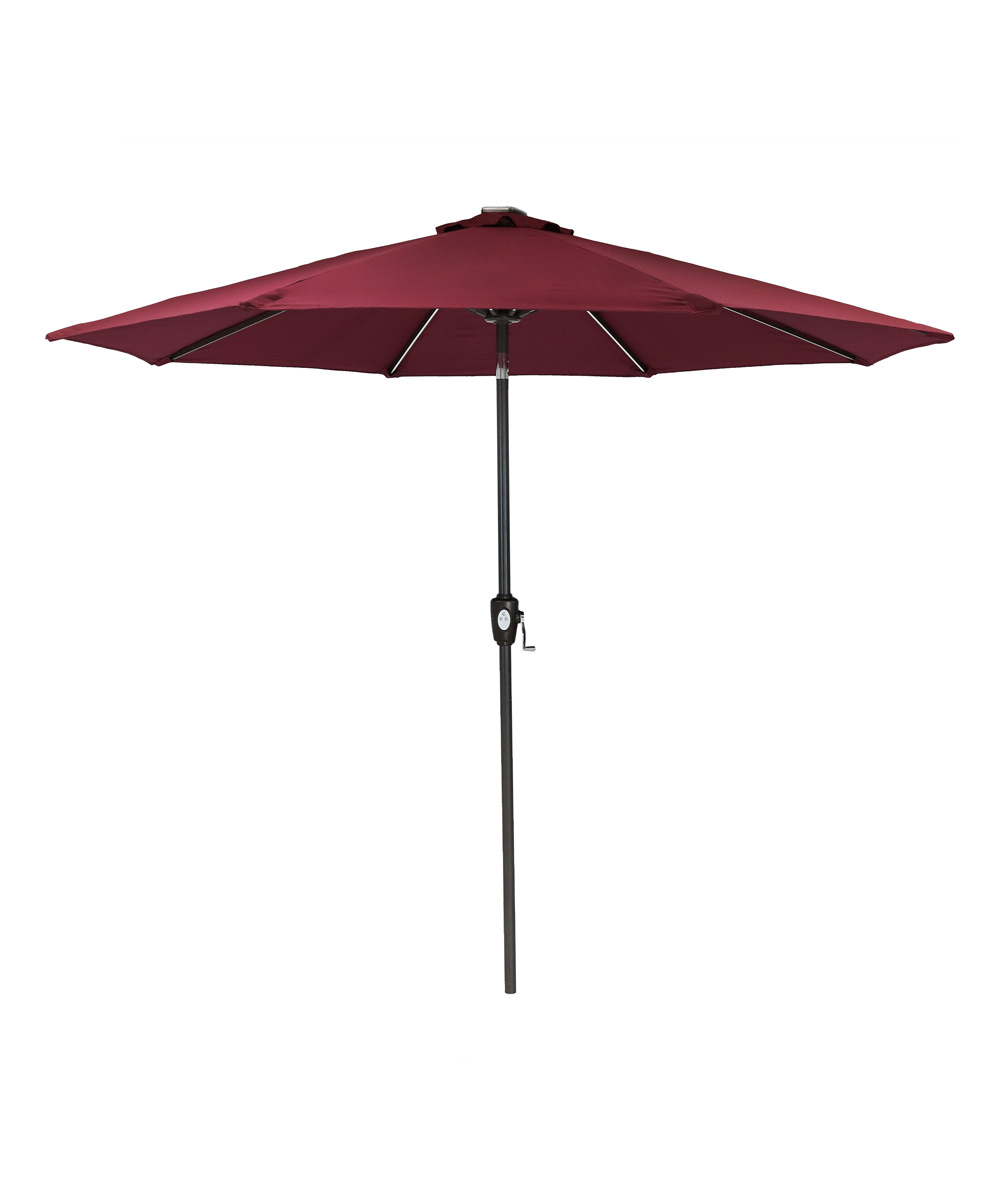 Charmant Sunnydaze Décor Dark Red Fade Resistant Solar LED Patio Umbrella