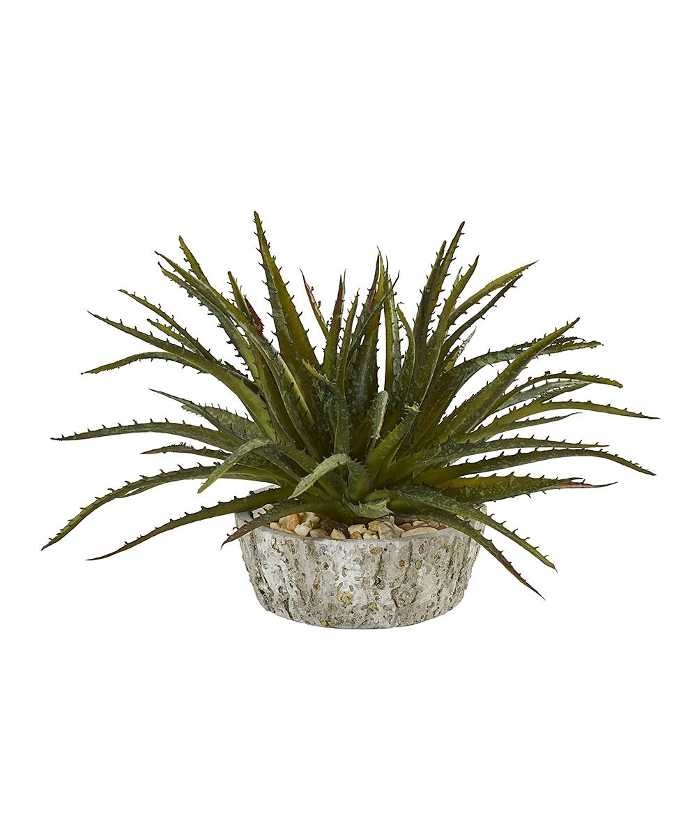 Green Faux Aloe Succulent Decor