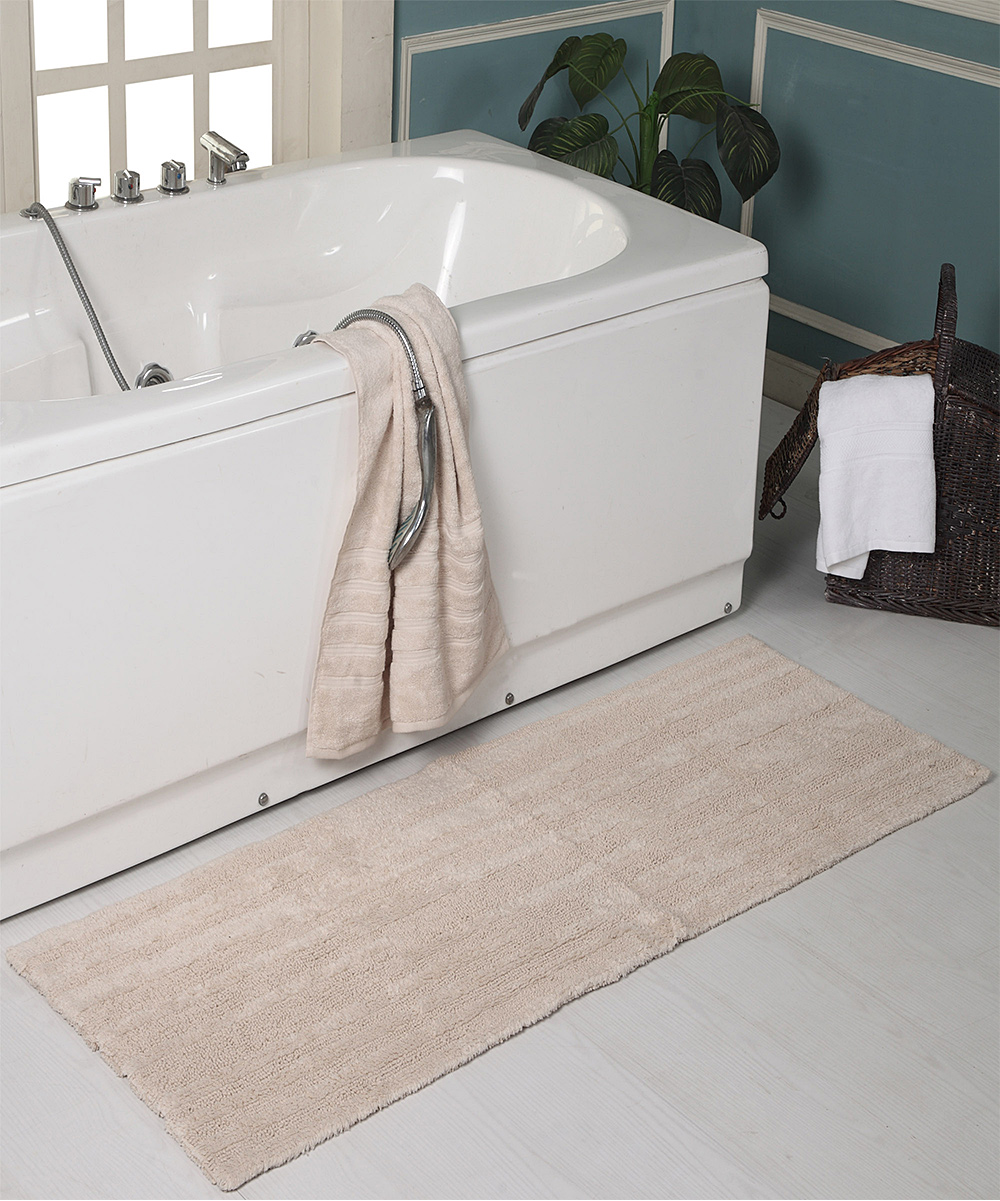Affinity Linens Ivory Textured Reversible Bath Mat