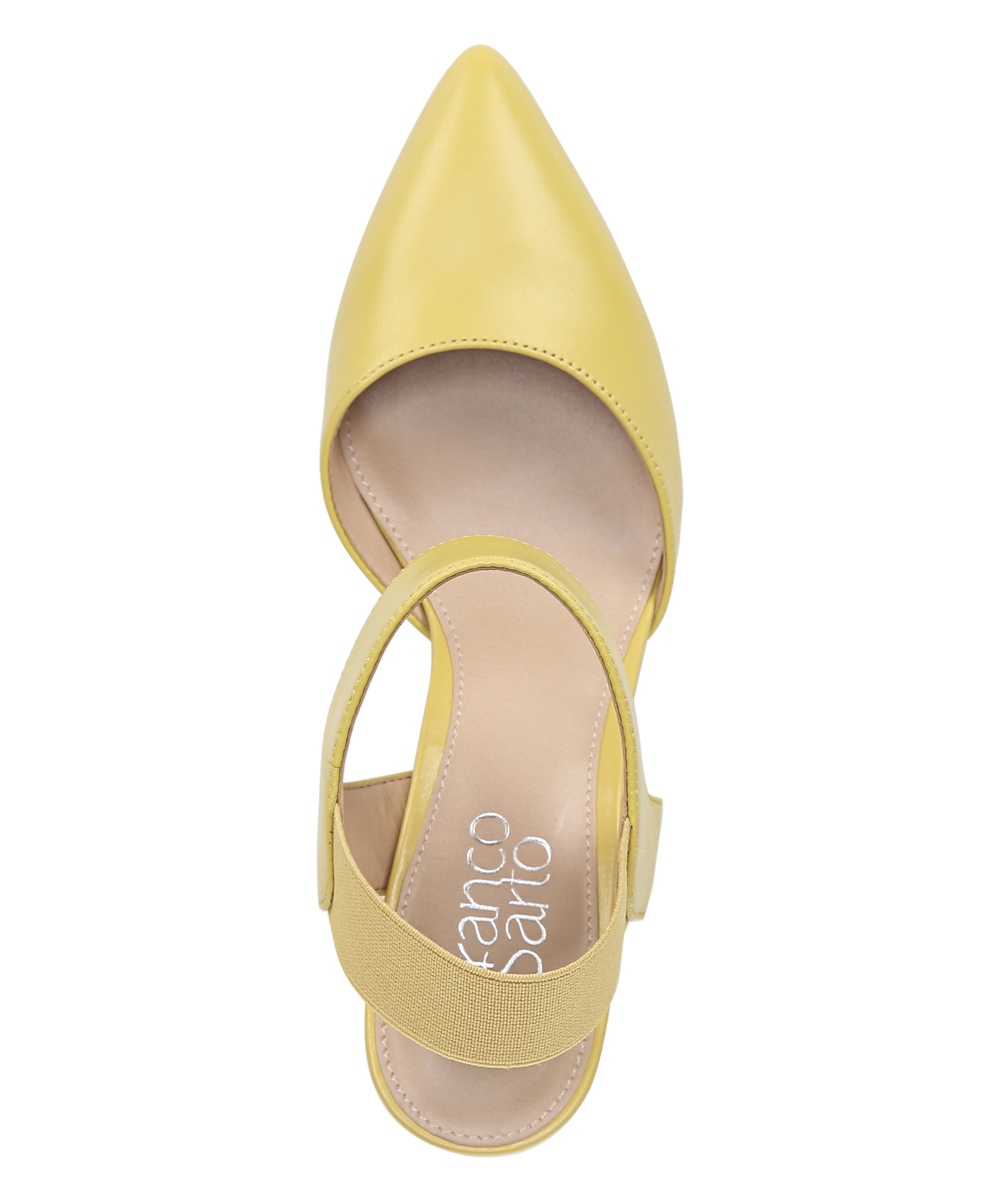 b06b450a425 Franco Sarto Sunkiss Yellow Ankle Strap Lima Leather Pump - Women