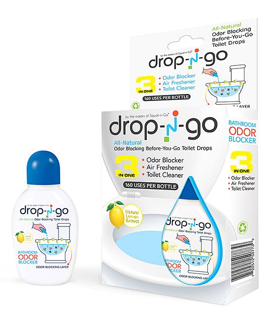 Drop-N-Go Lemon Air-Freshening Toilet Drops