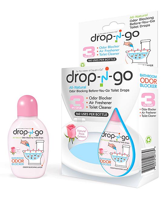 Drop-N-Go Rose Air-Freshening Toilet Drops