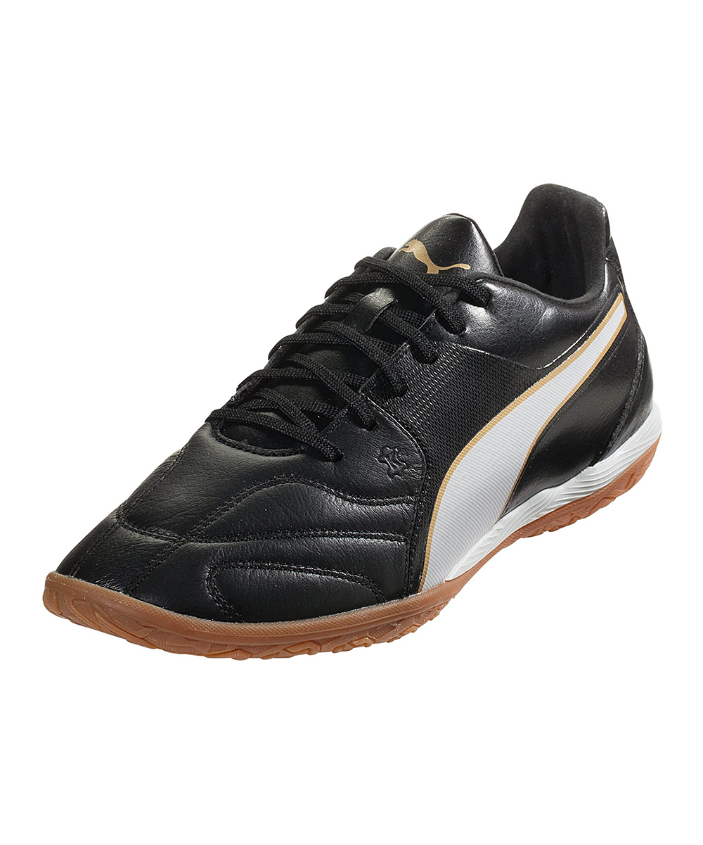 PUMA Men's Soccer Shoes PUMA - Black & White Capitano II Leather Turf Shoe - Men