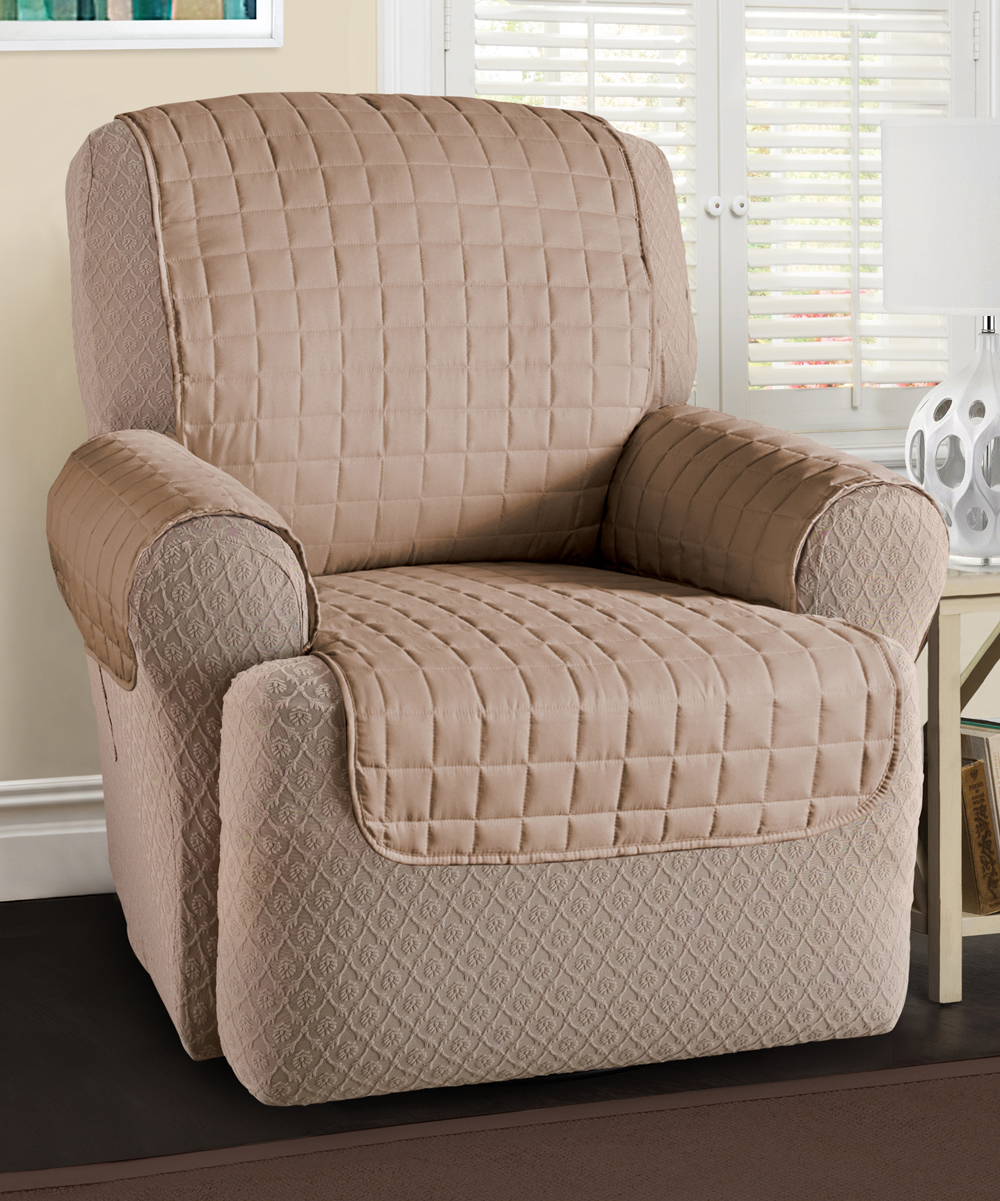 Jeffrey Home  Indoor Furniture Covers Natural - Natural Microfiber Recliner/Wing Chair Protector