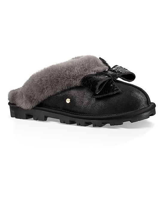 f11b5dfe082 UGG® Black Sequin-Bow Coquette Suede Slipper - Women