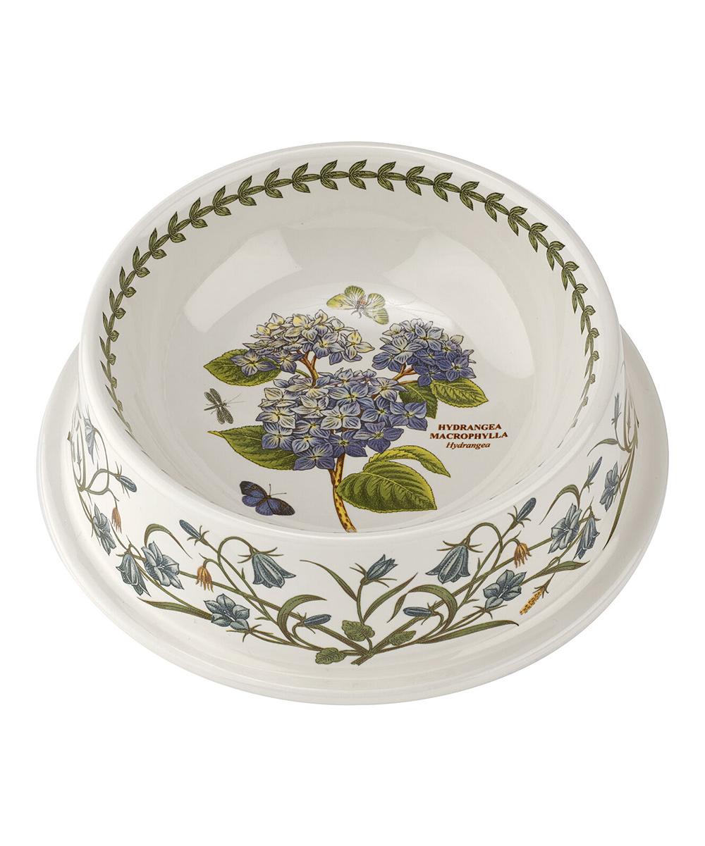 Portmeirion Botanic Garden 8.5 Inch Pet Bowl Hydrangea