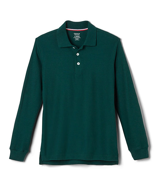 French Toast Boys' Polo Shirts HUNTER - Hunter Polo - Boys Hunter Polo - Boys. Give your little one's casualwear an update with this lightweight polo made from a soft cotton blend. 60% cotton / 40% polyesterMachine washImported