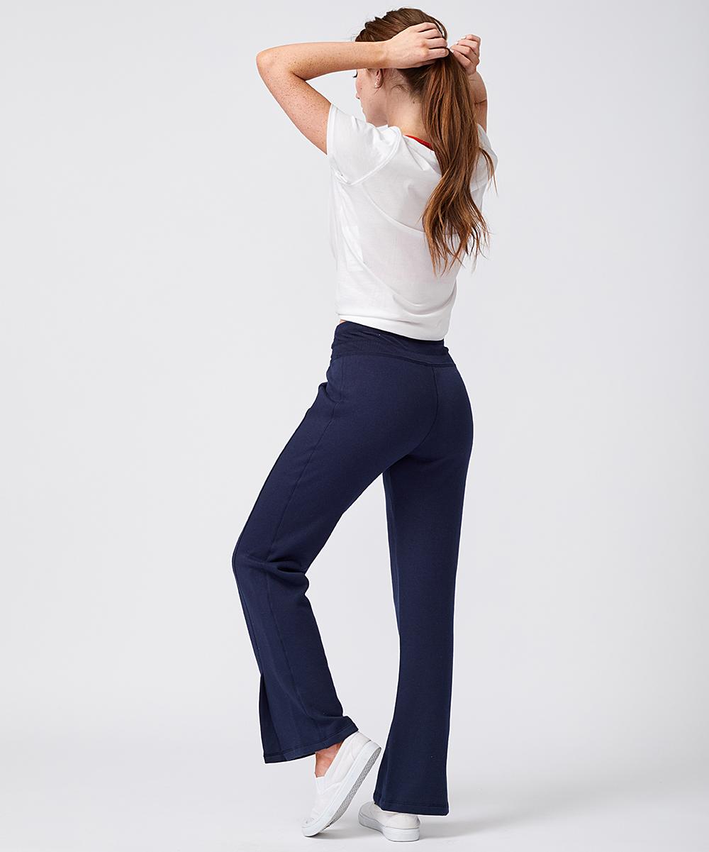 a763a031 Tommy Hilfiger Navy Side-Slit Track Pants - Women | Zulily