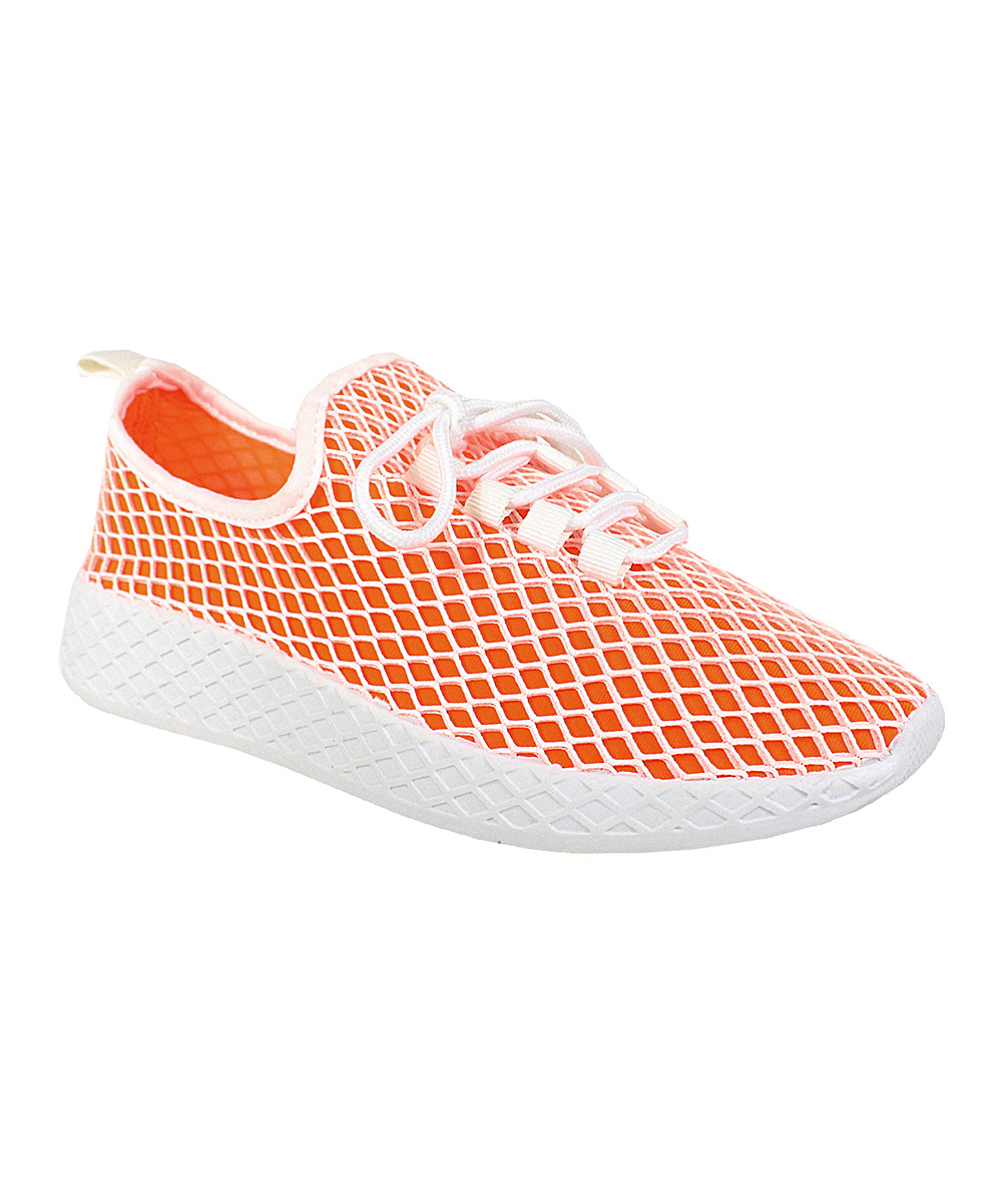 Yoki Women's Sneakers ORANGE - Orange Lemon Sneaker - Women