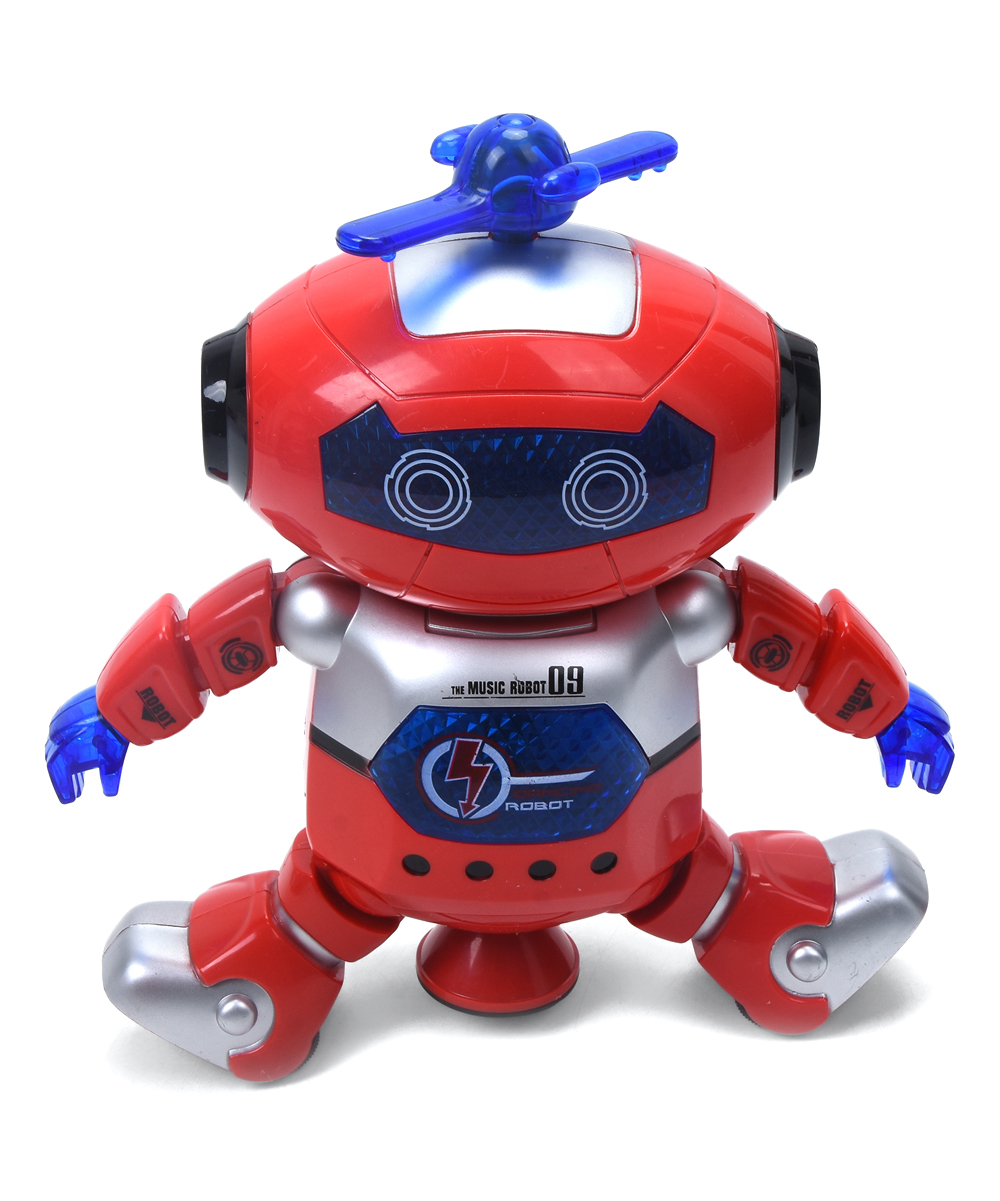 WonderPlay  Toy Pretend Electronics  - Red & Blue Light-Up Dancing Robot Toy