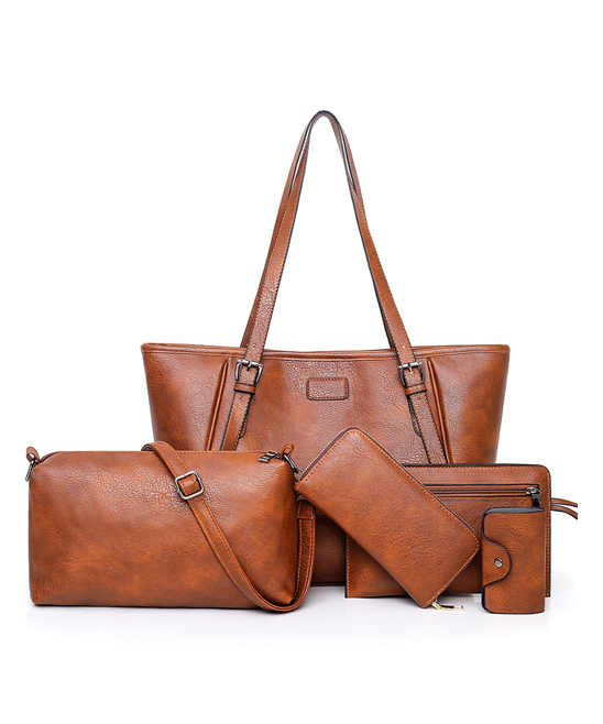 Brown Tote Set