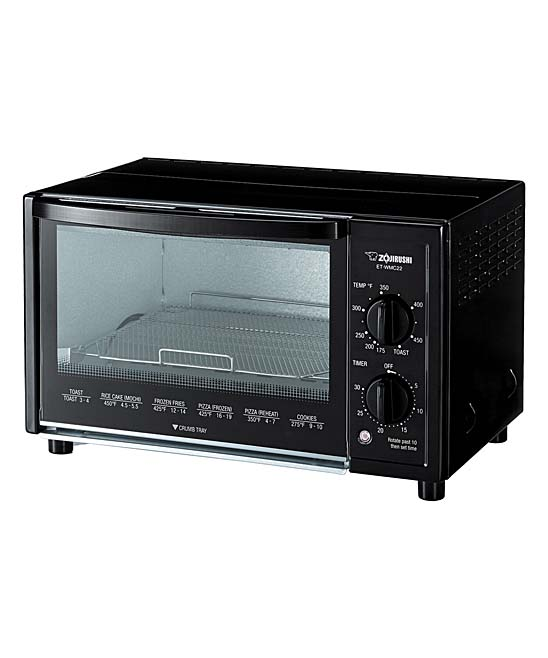 Zojirushi   Toaster Ovens Black - Stainless Steel & Black Toaster Oven Stainless Steel & Black Toaster Oven. Streamline your daily routine with the innovative convenience of this toaster oven, featuring an easy-to-use 30 minute dial and cooking guidelines printed on the front door. 15.75'' W x 9.38'' H x 11.25'' DHeats from 175 to 450fTwo-slice capacityPlastic / stainless steelImported