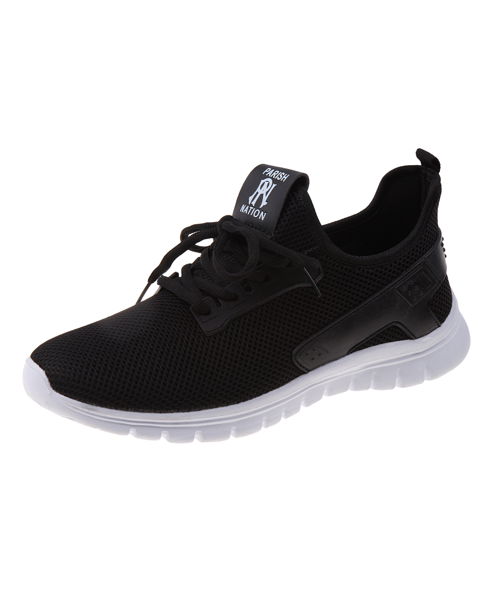 Parish Nation Men's Sneakers Black - Black Mesh Running Shoe - Men