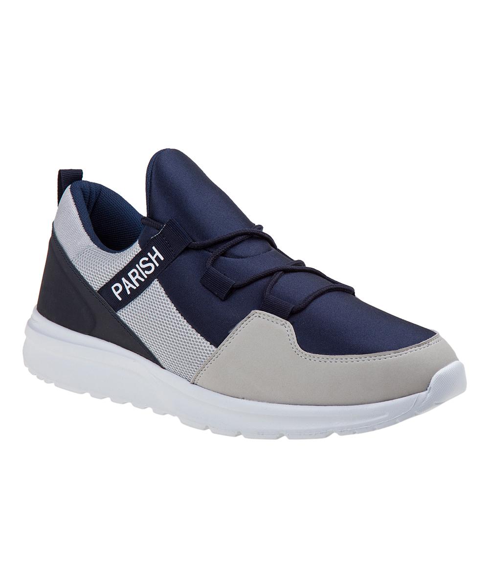 Parish Nation Men's Sneakers Navy/Grey - Navy & Gray Color Block Running Shoe - Men