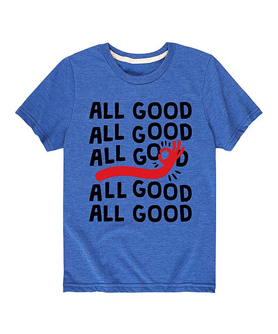Royal Blue 'All Good' Tee - Toddler & Kids