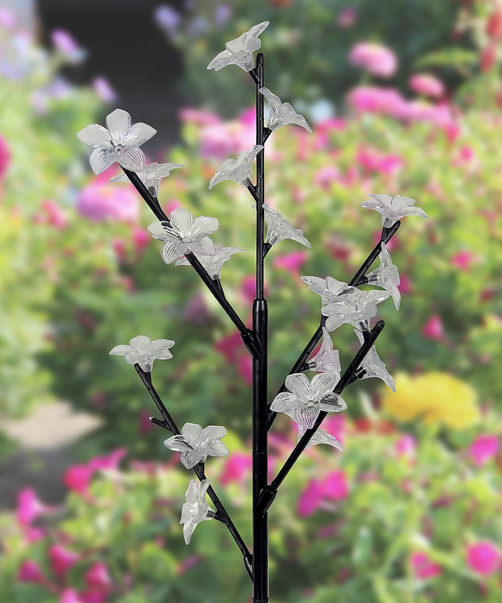 Solar 20-LED Flower Branch Garden Stake