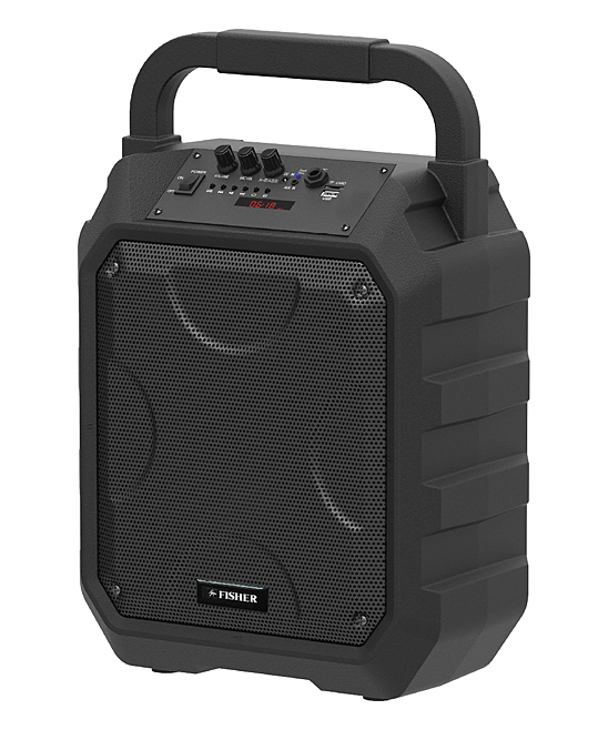 Fisher Sound   Wireless Speakers BLACK - Black Rugged Bluetooth Boombox Speaker