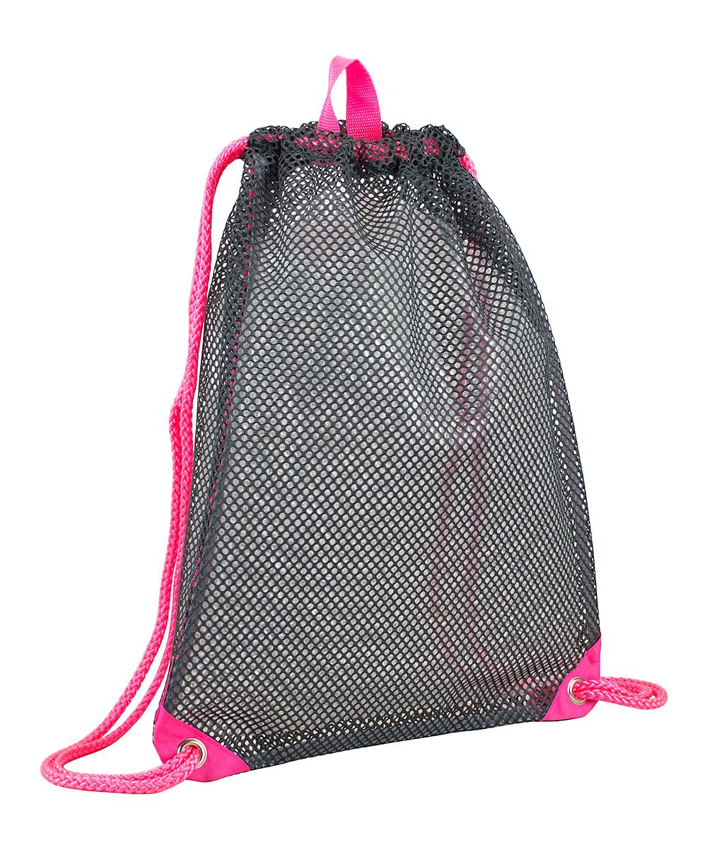 e07358a0ee28 Eastsport Gray & Pink Large Mesh Cinch Sack
