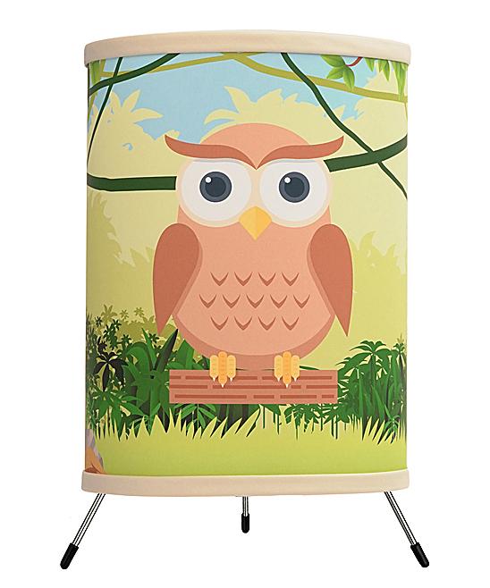 Owl Tripod Lamp In A Box