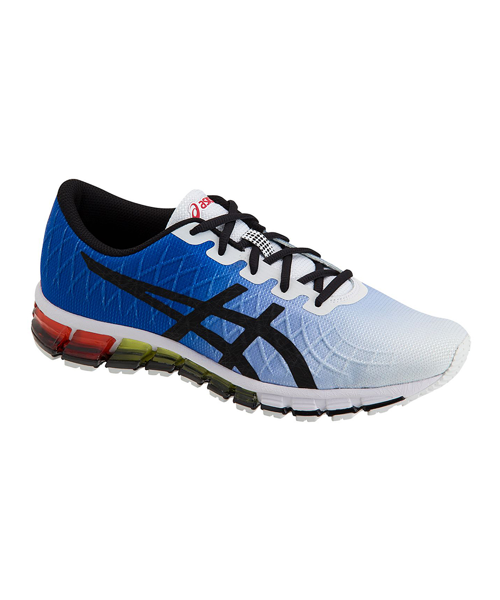 ASICS Men's Running Shoes WHITE/BLACK - White & Black Quantum 180 Gel Sneaker - Men