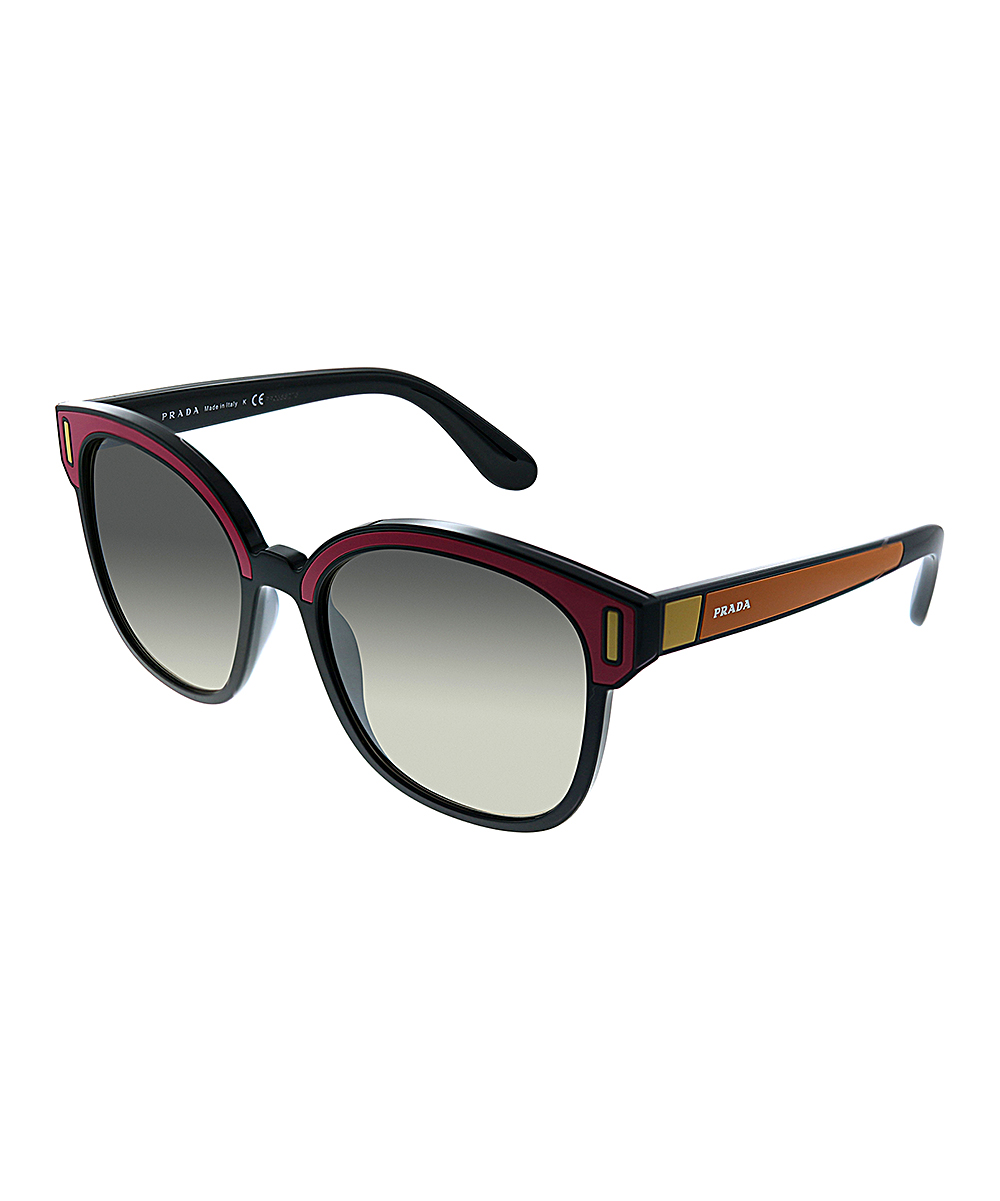 Prada Black Square Sunglasses Multi Redamp; Color cjS54ARLq3