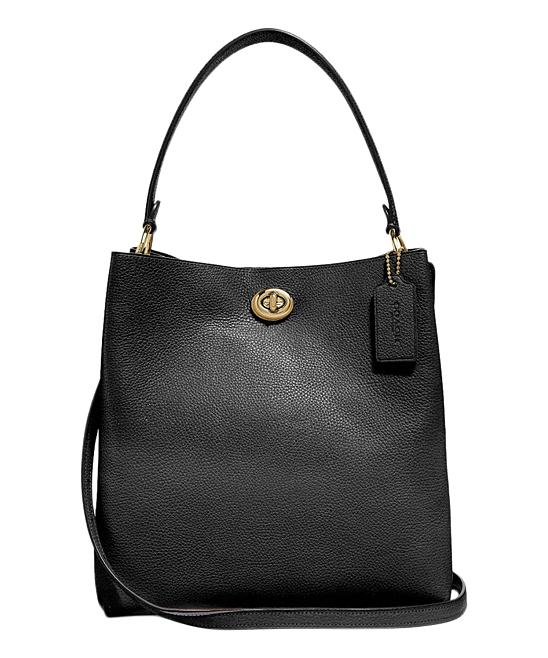 a7b1bcfd302fd Coach Black Charlie Leather Bucket Bag | Zulily