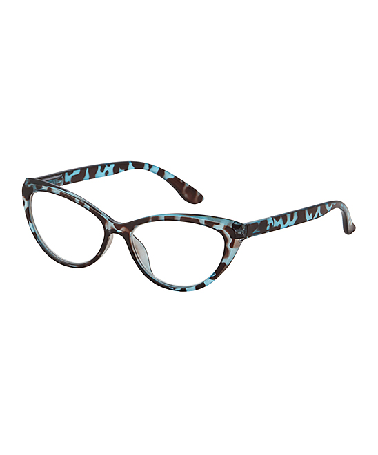 I Heart Eyewear Women's Reading Glasses Blue - Blue Tortoise Lana Eye Candy Readers