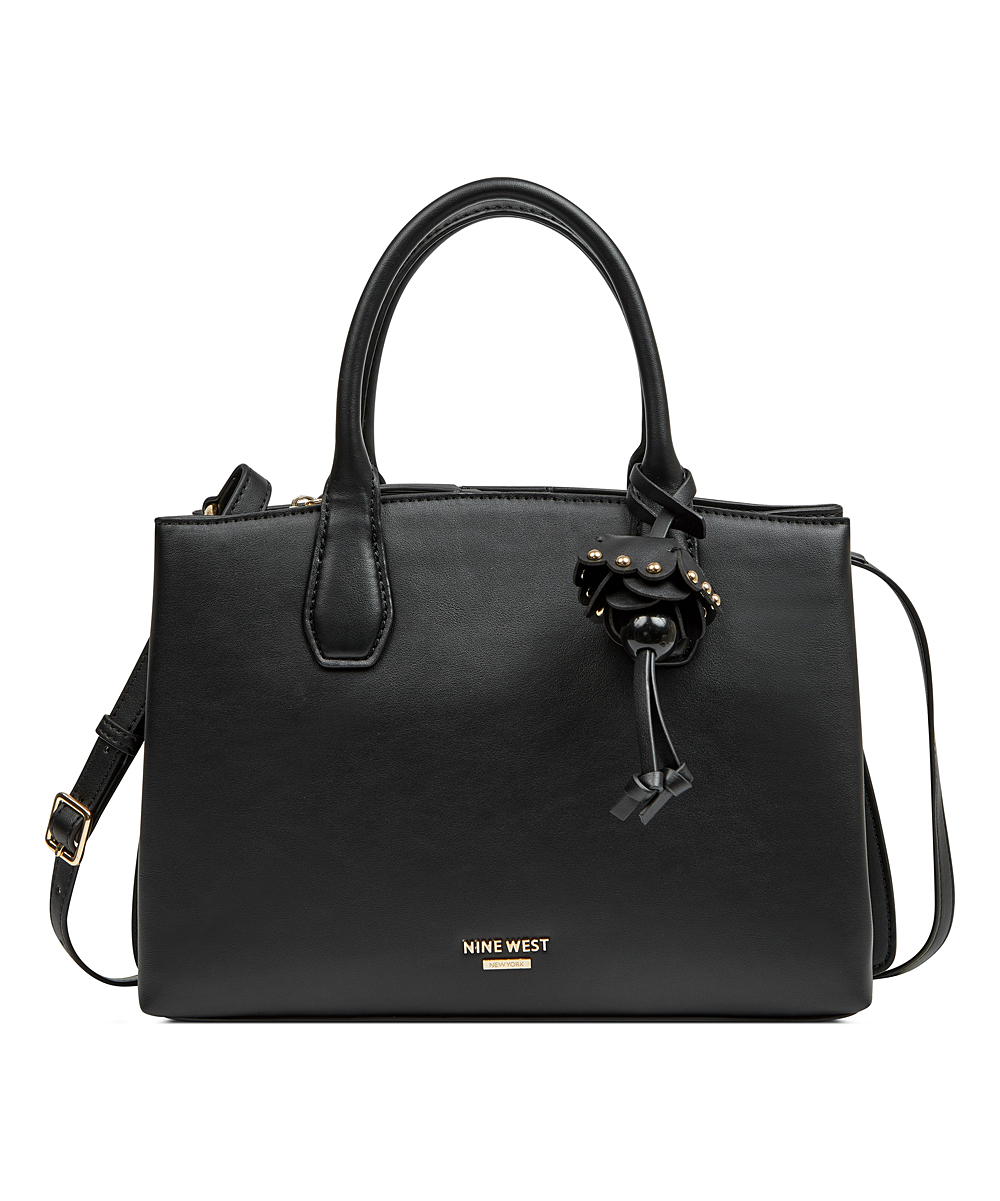 Nine West Women's Handbags BLACK - Black Marea Jet Set Satchel
