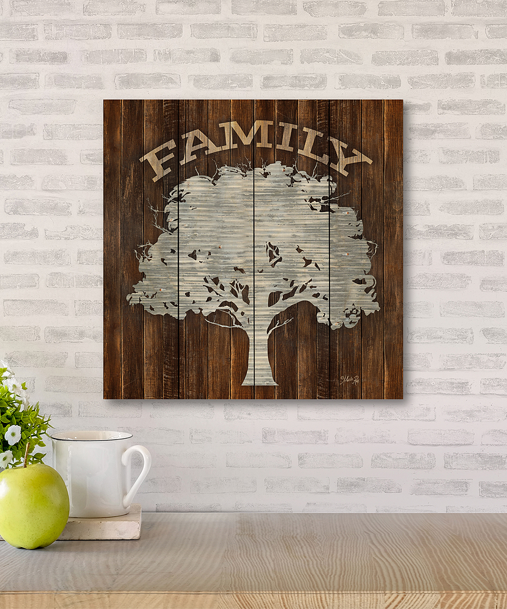 Wooden Creek Essentials 12 X 12 Family Tree Wood Pallet Wall Art