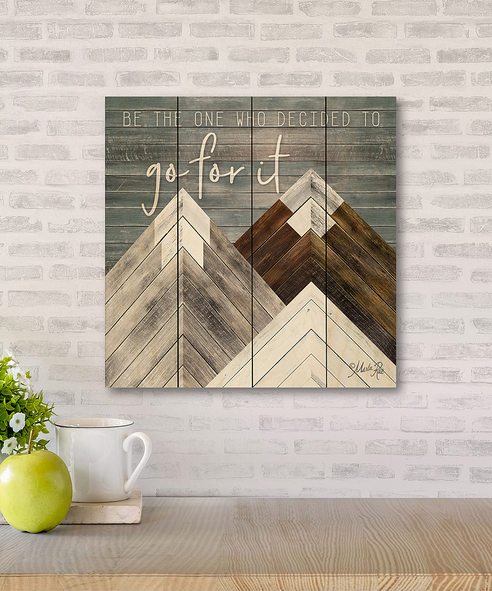 Wooden Creek Essentials 12 X 12 Go For It Wood Pallet Wall Art