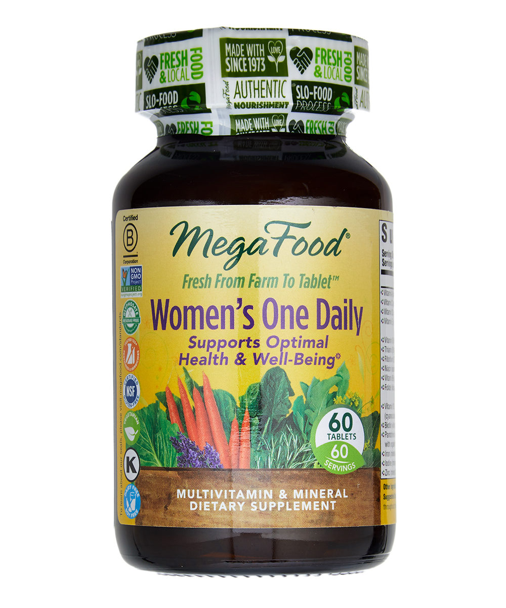 MegaFood  Vitamins & Supplements  - Womens One Daily Supplements - 1 Bottle of 60 Womens One Daily Supplements - 1 Bottle of 60. Help maintain optimal health and well-being with these beneficial daily supplements.Includes 60 supplements