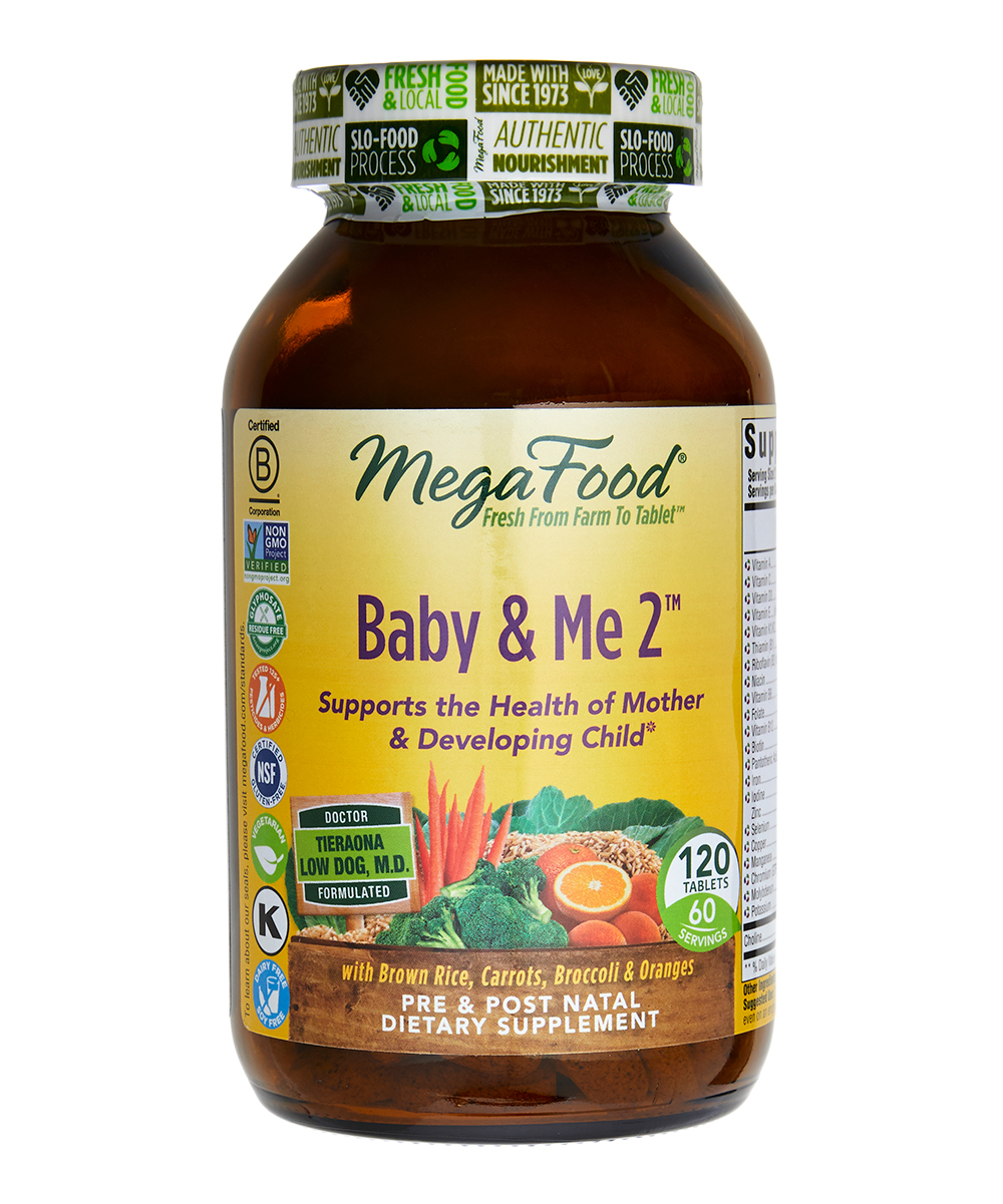 Baby & Me 2 Supplements - 1 Bottle of 120 Baby & Me 2 Supplements - 1 Bottle of 120. Help maintain your health as well as the developing health of your child with these beneficial prenatal supplements.Includes 120 supplements