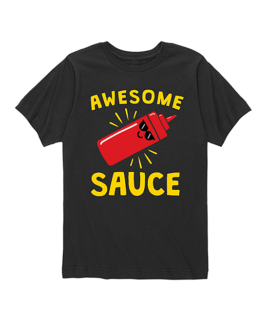 Black 'Awesome Sauce' Tee - Toddler & Kids